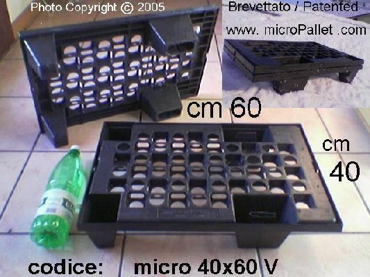 micropallet x export inseribile 40x60 cm asimmetrico